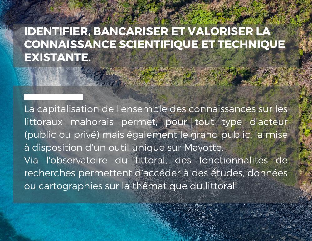 Objectifs de l'Observatoire du littoral de Mayotte
